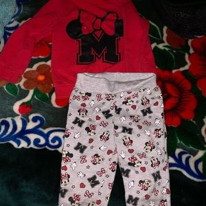 Toddler girls Minnie Mouse set